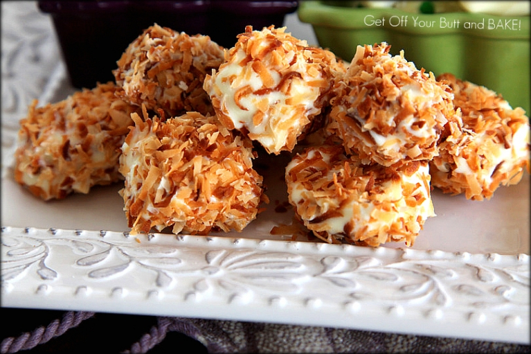 ... Marshmallows dipped in White Chocolate and rolled in Toasted Almonds