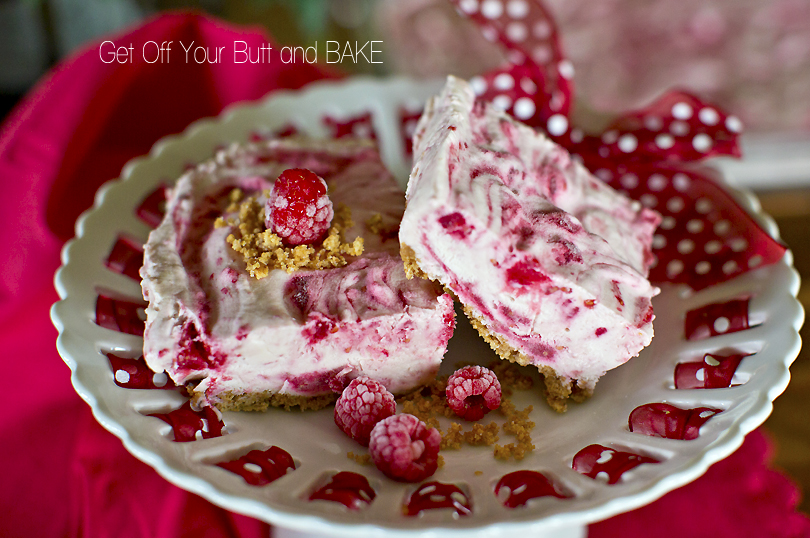 Frozen Raspberry Swirl Cheesecake » Get Off Your Butt and BAKE