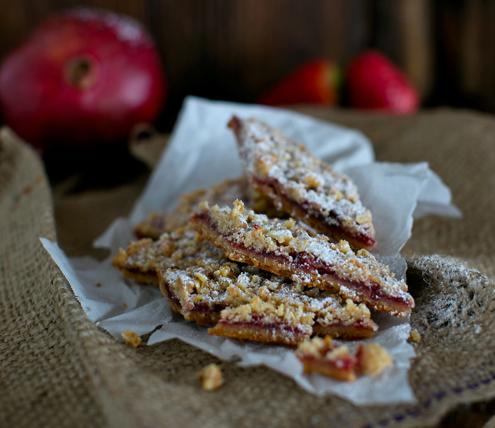 Blackberry Jam Shortbread Bars Recipe — Dishmaps